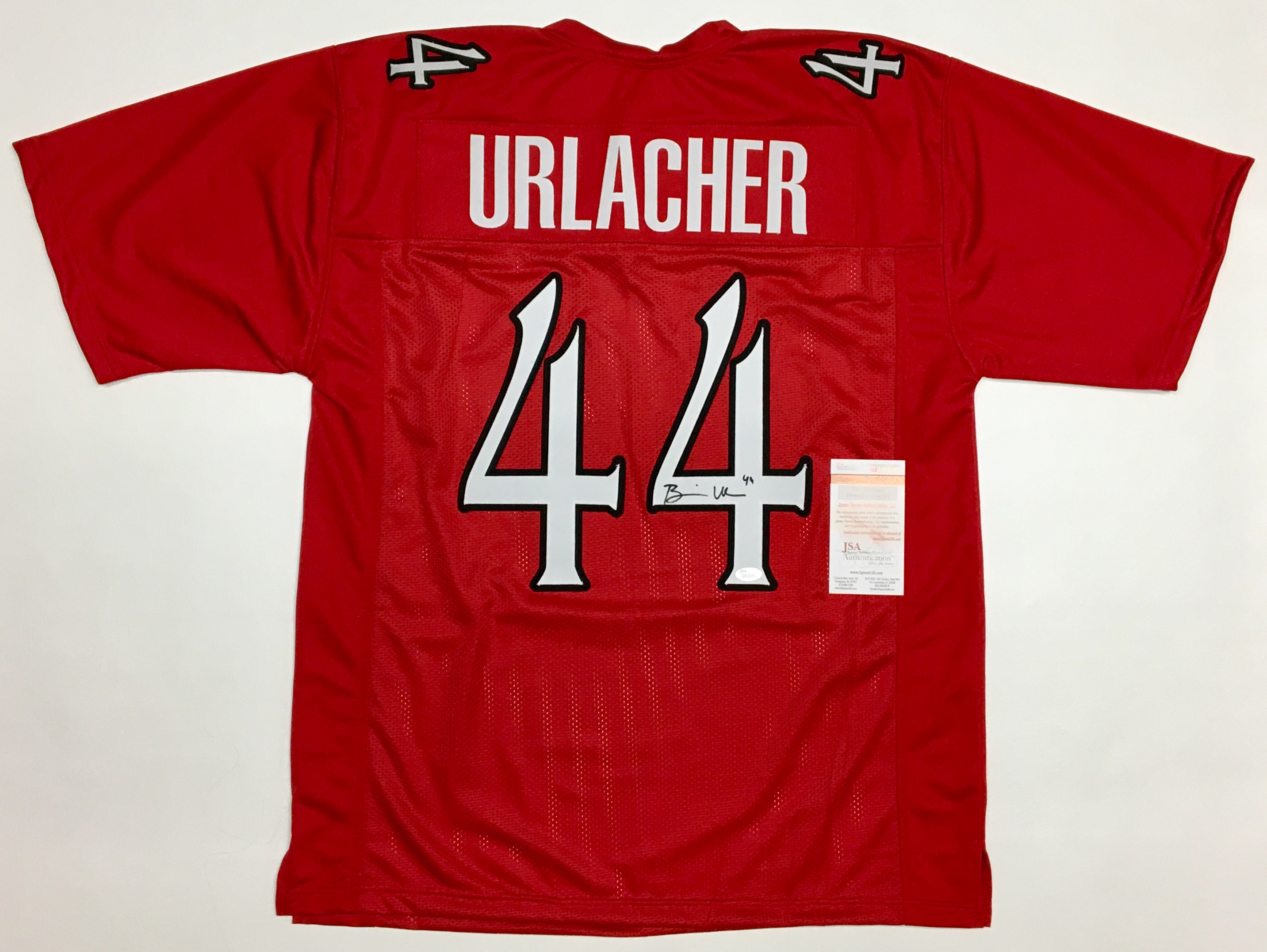 7ec14f90ab3 BRIAN URLACHER AUTOGRAPHED COLLEGE STYLE JERSEY with JSA WITNESSED COA - In  Demand Autographs