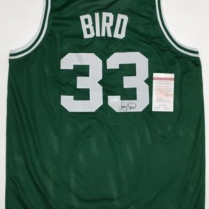 LARRY BIRD AUTOGRAPHED PRO STYLE JERSEY with JSA COA