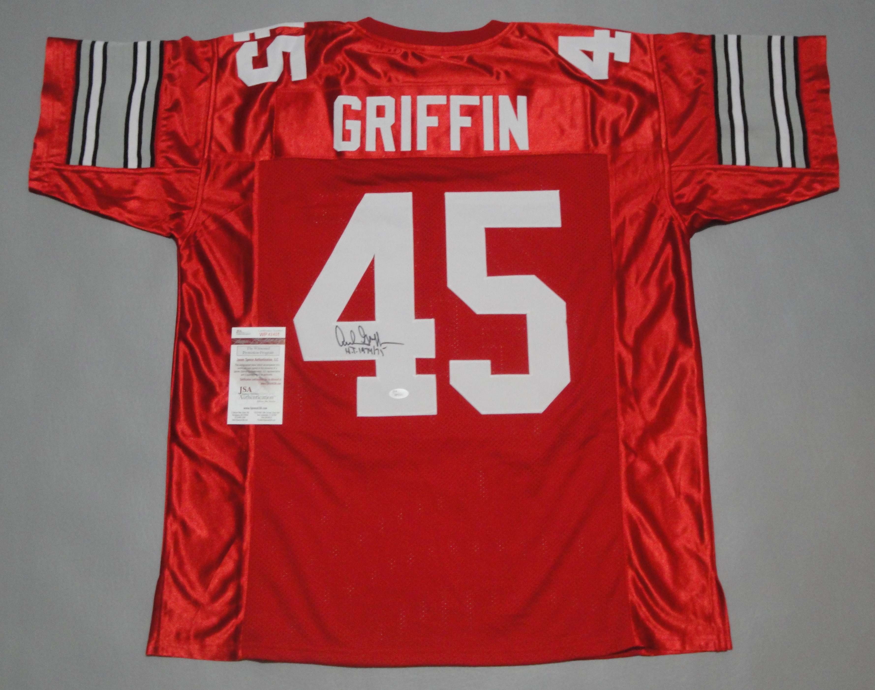 cc7362671f0 ARCHIE GRIFFIN AUTOGRAPHED COLLEGE STYLE JERSEY with JSA WITNESS COA - In  Demand Autographs