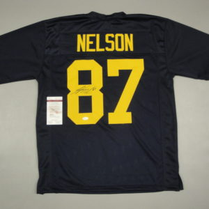 JORDY NELSON AUTOGRAPHED PRO STYLE JERSEY with JSA WITNESSED COA GB