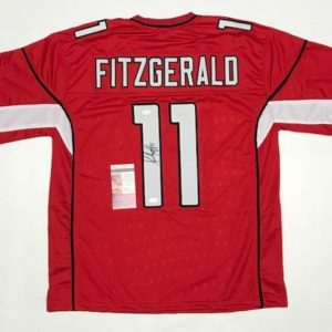 LARRY FITZGERALD AUTOGRAPHED PRO STYLE JERSEY with JSA COA