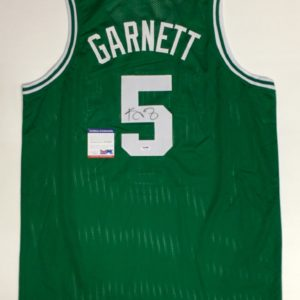 KEVIN GARNETT AUTOGRAPHED PRO STYLE JERSEY with PSA ITP COA