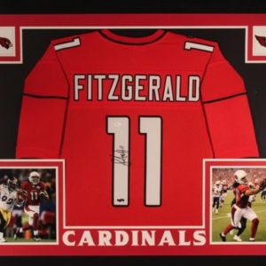 LARRY FITZGERALD AUTOGRAPHED FRAMED PRO STYLE JERSEY with JSA COA