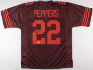 a31661a38 JABRILL PEPPERS AUTHENTIC SIGNATURE – AUTOGRAPHED SIGNED PRO STYLE JERSEY