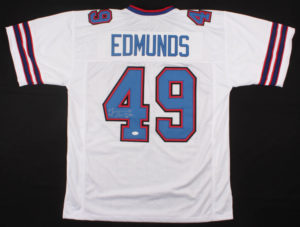 TREMAINE EDMUNDS AUTOGRAPHED AUTHENTIC SIGNATURE PRO STYLE JERSEY